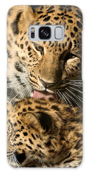 Leopard Cub Love Galaxy Case