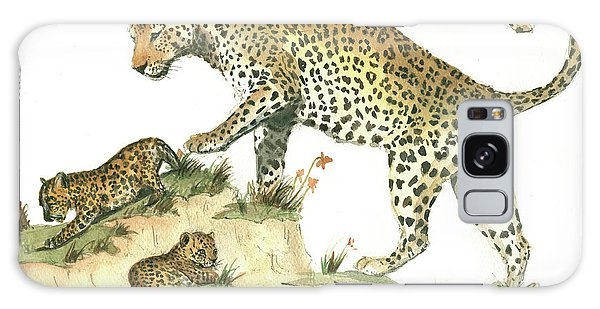 Leopard Galaxy S8 Case - Leopard Family by Juan Bosco