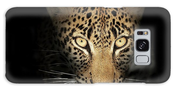 Powerful Galaxy Case - Leopard In The Dark by Johan Swanepoel