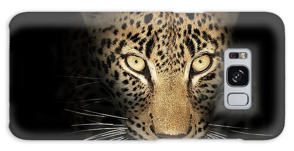 Close Up Galaxy Case - Leopard In The Dark by Johan Swanepoel
