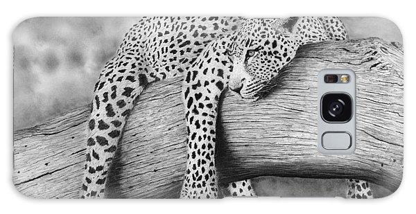 Hyper-realistic Galaxy Case - Leopard Relaxing In A Tree by James Schultz