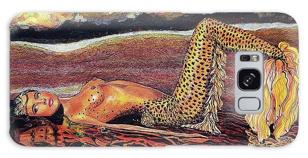Leopard Mermaid Galaxy Case by Debbie Chamberlin