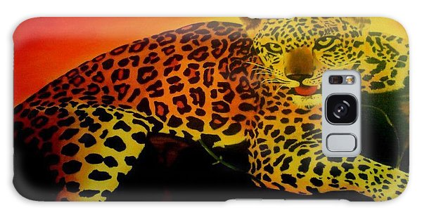 Leopard On A Tree Galaxy Case