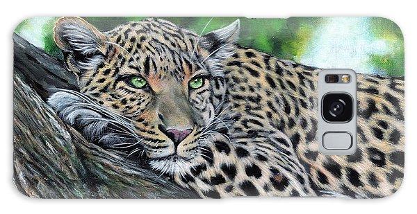 Leopard On Branch Galaxy Case