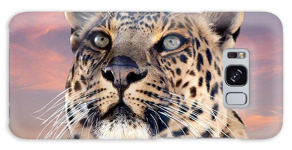 Leopard Portrait Number 3 Galaxy Case