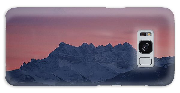 Les Dents Du Midi Galaxy Case by Colleen Williams