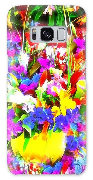 Les Jolies Fleurs Galaxy Case by Jack Torcello