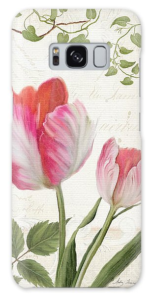 Les Magnifiques Fleurs I - Magnificent Garden Flowers Parrot Tulips N Indigo Bunting Songbird Galaxy Case