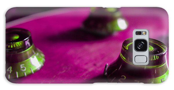 Galaxy Case featuring the digital art Guitar Controls Series Pink And Green by Guitar Wacky