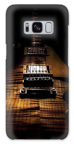 Galaxy Case featuring the digital art Burst Top Guitar Spotlight Series by Guitar Wacky