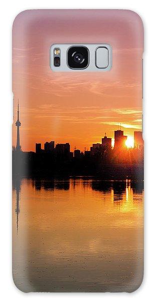Leslie Street Spit Toronto Canada Sunset Galaxy Case