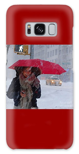L Esprit De New York - Winter In New York Galaxy Case by Miriam Danar