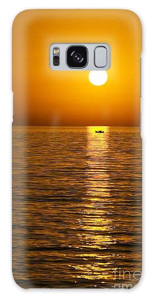 Lesvos Sunset Galaxy Case