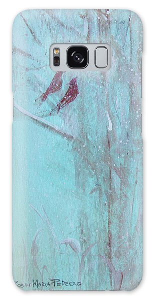 Galaxy Case featuring the painting Let It Snow by Robin Maria Pedrero