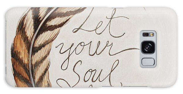 Let Your Soul Breathe Galaxy Case by Elizabeth Robinette Tyndall