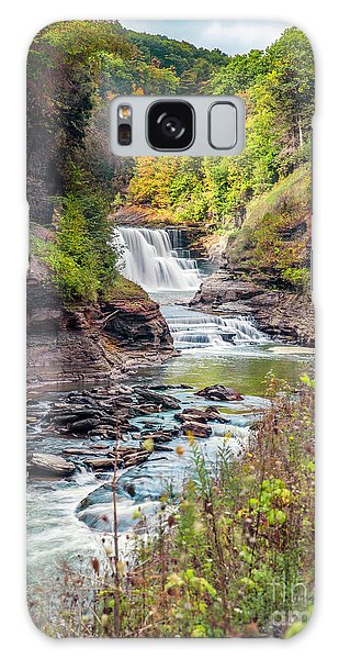 Letchworth Lower Falls In Autumn Galaxy Case