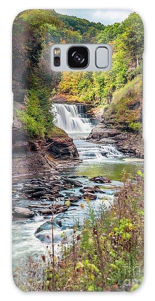 Letchworth Lower Falls In Autumn Galaxy Case