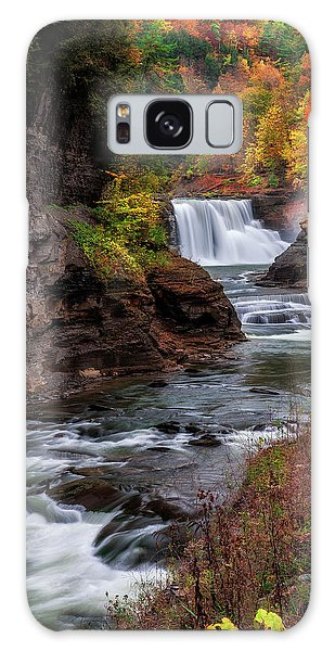 Letchworth State Park Lower Falls Galaxy Case