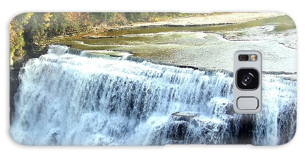 Letchworth State Park Middle Falls Autumn Galaxy Case