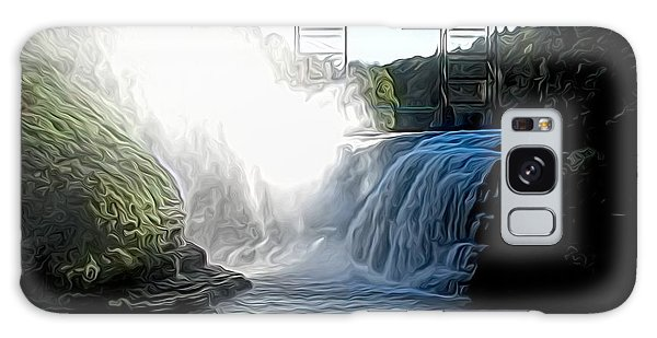 Letchworth State Park Upper Falls And Railroad Trestle Abstract Galaxy Case