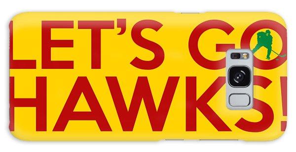 Vintage Chicago Galaxy Case - Let's Go Hawks by Florian Rodarte