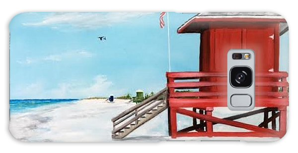 Let's Meet At The Red Lifeguard Shack Galaxy Case