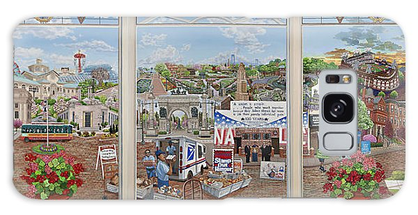 Letter Carriers Picture Window Of Brooklyn Galaxy Case by Bonnie Siracusa