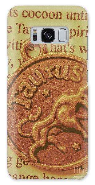 Bull Art Galaxy Case - Letter Of Zodiac Taurus by Jorgo Photography - Wall Art Gallery