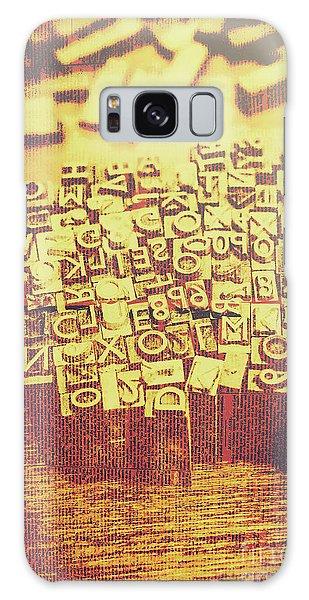 Language Galaxy Case - Letterpress Industrial Pop Art by Jorgo Photography - Wall Art Gallery