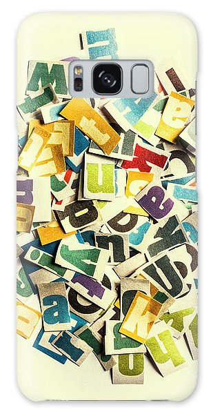 Language Galaxy Case - Letters In Jumble by Jorgo Photography - Wall Art Gallery