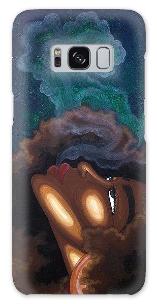 Galaxy Case featuring the painting Letting Go by Aliya Michelle