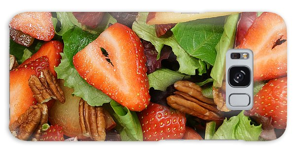 Lettuce Strawberry Plum Salad Galaxy Case by Jana Russon