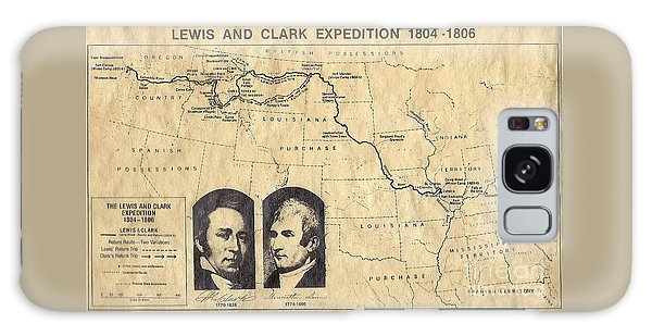 Lewis And Clark Expedition Map Galaxy Case