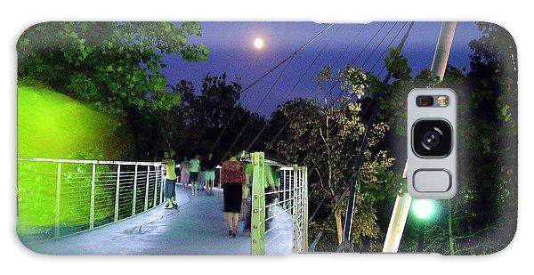 Liberty Bridge At Night Greenville South Carolina Galaxy Case