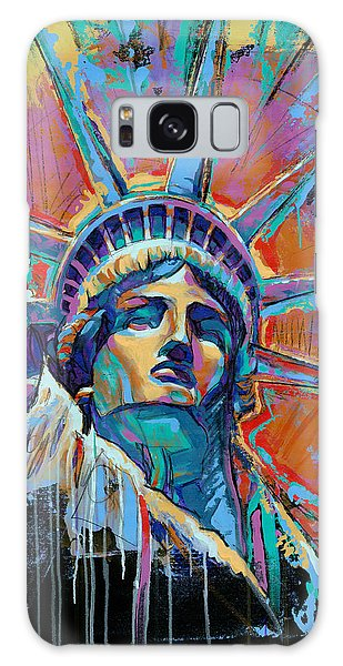 Liberty In Color Galaxy Case by Damon Gray