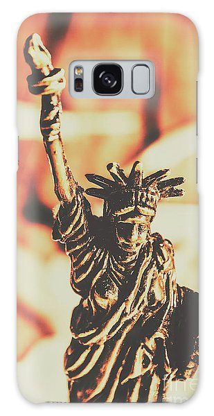 Civil Galaxy Case - Liberty Will Enlighten The World by Jorgo Photography - Wall Art Gallery