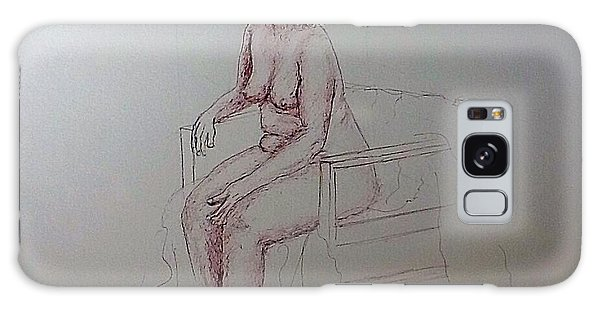 Life Drawing Nude Lady Galaxy Case