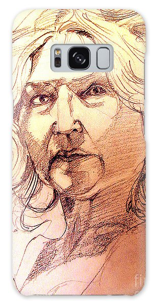 Life Drawing Sepia Portrait Sketch Medusa Galaxy Case