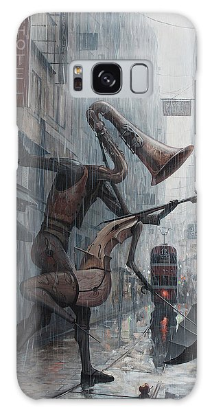 Life Is  Dance In The Rain Galaxy Case
