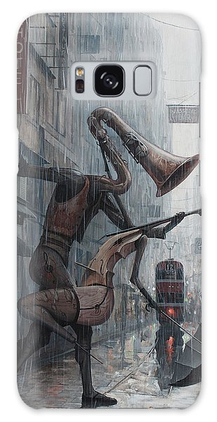 Dawn Galaxy Case - Life Is  Dance In The Rain by Adrian Borda