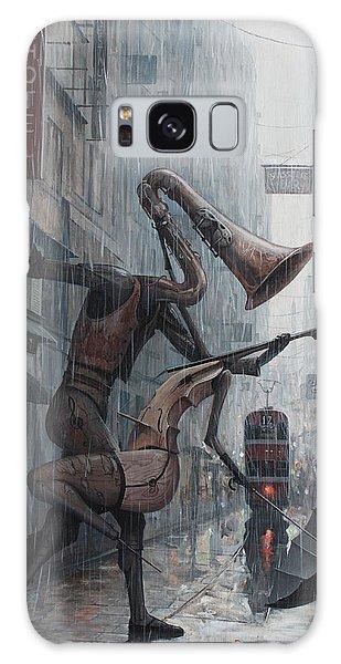Life Is  Dance In The Rain Galaxy Case by Adrian Borda