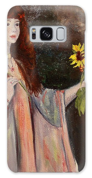 Life Is Fragile Handle With Flowers Galaxy Case by Jane Autry