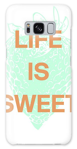 Strawberry Galaxy Case - Life Is Sweet- Art By Linda Woods by Linda Woods