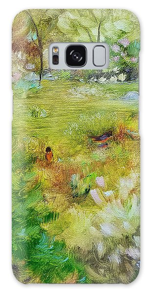 Galaxy Case featuring the painting Life Lessons by Judith Rhue