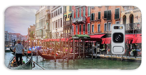 Life On The Grand Canal Venice Italy  Galaxy Case