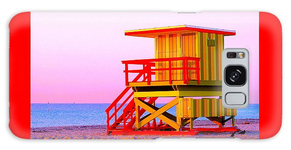 Lifeguard Stand Miami Beach Galaxy Case