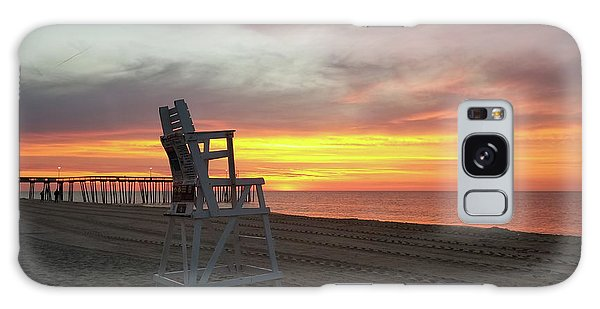 Lifeguard Stand On The Beach At Sunrise Galaxy Case