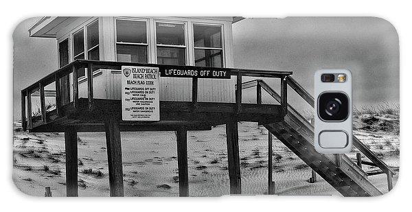 Lifeguard Station 1 In Black And White Galaxy Case by Paul Ward