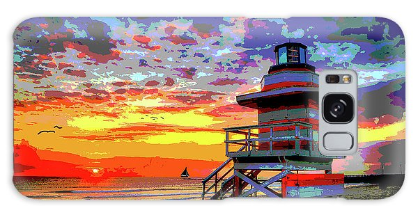 Lifeguard Tower At Miami South Beach, Florida Galaxy Case by Charles Shoup