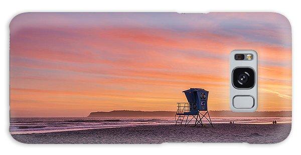Lifeguard Tower Sunset Galaxy Case